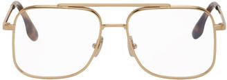 Victoria Beckham Gold and Tortoiseshell Aviator Glasses