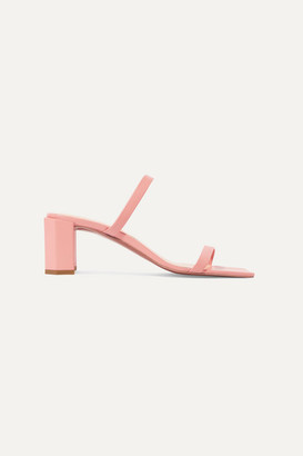 BY FAR Tanya Leather Mules - Pink