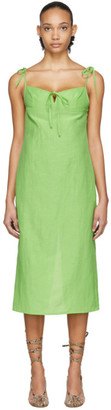 Maryam Nassir Zadeh Green Serpentine Dress