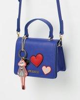 Love Moschino Handheld Crossbody Bag with Heart Detail