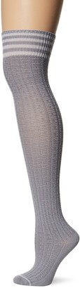 Yummie by Heather Thomson Yummie Women's Over The Knee Sock Wide Waffle Knit - Dapple Grey 9/11 (fits shoe sizes 4-10)
