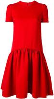 Alexander McQueen pleated babydoll dress - women - Silk/Polyamide/Virgin Wool - 42
