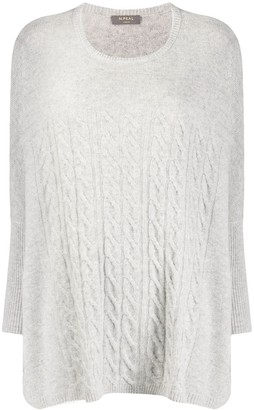 N.Peal Oversized Cable Knit Sweater