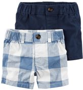 Carter's Baby Boy 2-pk. Solid & Plaid Shorts