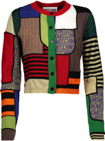 Moschino Patchwork-effect paneled wool cardigan