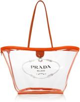 Prada Transparent PVC Logo Tote Bag