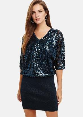 Phase Eight Becca Sequin Bodice Dress