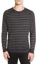 John Varvatos Men's Stripe Long Sleeve T-Shirt