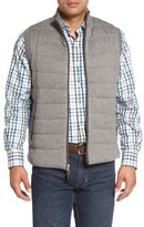 Peter Millar Men's Quilted Wool & Cotton Full Zip Vest