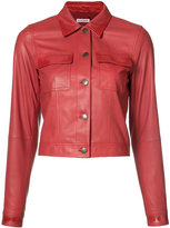 Tomas Maier cropped jacket - women - Leather - 2