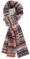 Barbour 'Martingale' Fair Isle Wool Scarf
