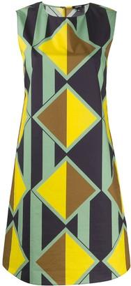 Aspesi geometric print shift dress