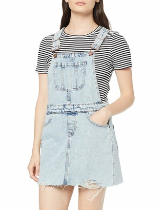 New Look Petite Women's Acid Dungaree Dress