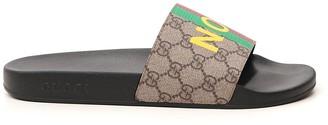 Gucci Fake/Not Print Slide Sandals