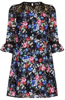Yumi Assorted Flower Fluted Dress