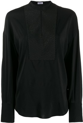 Brunello Cucinelli long sleeved blouse