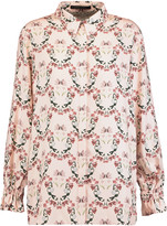 Mother of Pearl Ethel floral-print twill shirt