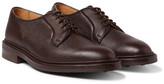 Tricker's Fenwick Pebble-grain Leather Derby Shoes - Dark brown