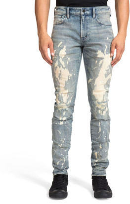 PRPS Men's Windsor Fit Ripped & Bleached Jeans