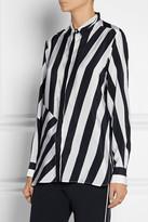 Stella McCartney Striped silk crepe de chine blouse