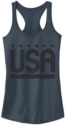 Juniors' Retro USA Stars Tank