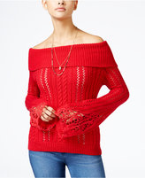 American Rag Off-The-Shoulder Pointelle Sweater, Only at Macy's