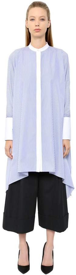 Alexander McQueen Oversized Striped Cotton Poplin Shirt