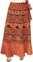 Maple Clothing Cotton Long Skirts Wrap Around Womens Indian Clothes
