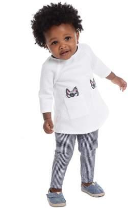 Pippa & Julie Sequin Cats Tunic & Leggings 2-Piece Set (Baby Girls 12-24M)