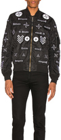 Marcelo Burlon County of Milan Roldan Alpha MA-1 Jacket
