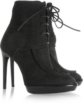 Burberry Textured-nubuck platform ankle boots