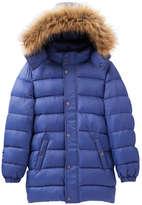 Joe Fresh Kid Boys' Hooded Puffer Jacket, Bright Blue (Size S)