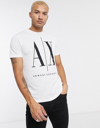 Armani Exchange Icon large logo t-shirt in white