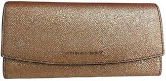 Burberry Gold Leather Wallets