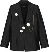 Ellery Gertrude duchesse silk-blend satin blazer