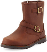UGG Harwell Leather Buckle-Trim Boot, Stout, Youth