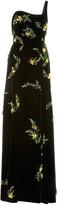 Oscar de la Renta One Shoulder Embellished Gown