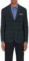 Boglioli Men's Windowpane-Checked Cashmere-Blend Sportcoat-GREEN