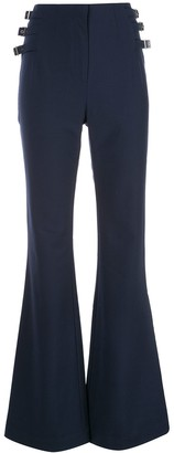 Jonathan Simkhai Side Buckle Flared Trousers