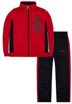 Nike Boys 4 Tricot Colorblocked Track Jacket & Pants Set (6, Anthracite Crimson)