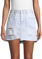 One Teaspoon 2020 High-Waist Ripped Denim Mini Skirt