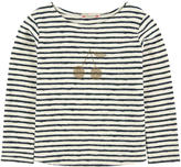 Bonpoint Striped sweater with rhinestones