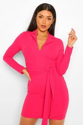 boohoo Belted Blazer Dress