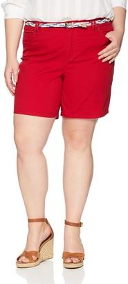 Bandolino Women's Plus Size Amalia Belted Denim Short