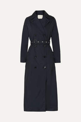 MACKINTOSH Belted Shell Trench Coat - Navy