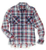 Blank NYC Girl's Checkered Shirt
