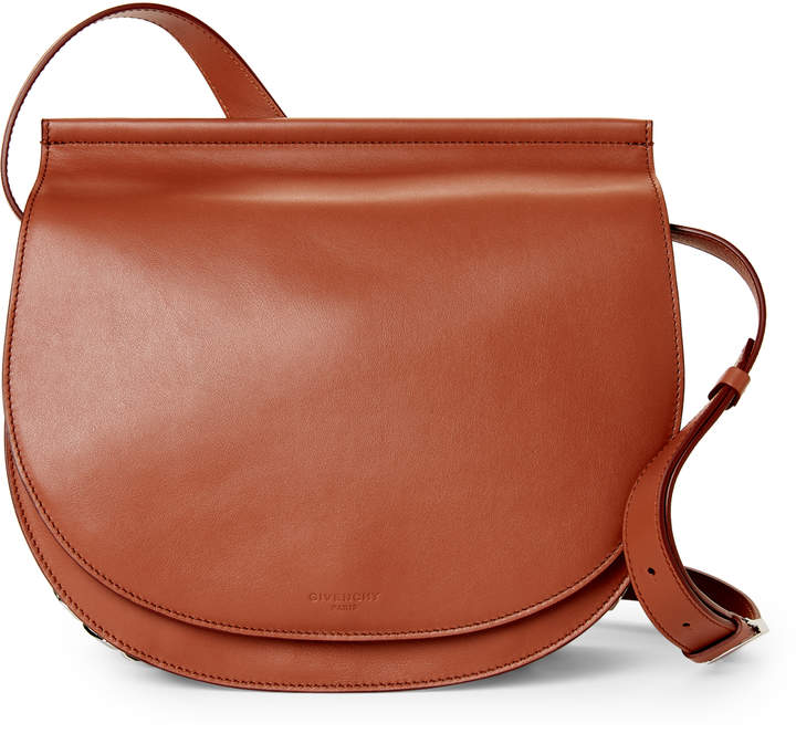 Givenchy Brown Infinity Leather Saddle Bag