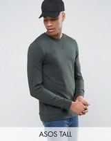 Asos TALL Lightweight Muscle Sweatshirt In Green