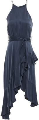 Zimmermann Flounce Picnic Asymmetric Ruffled Washed-silk Dress