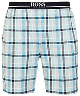 Hugo Boss Boss Jersey Cotton Check Lounge Shorts, Blue